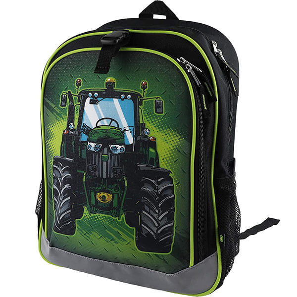 Robust John Deere Tractor Backpack for Boys