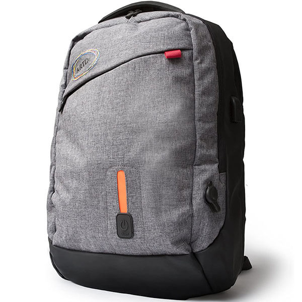 Water-Resistant LED Backpack with USB Charger