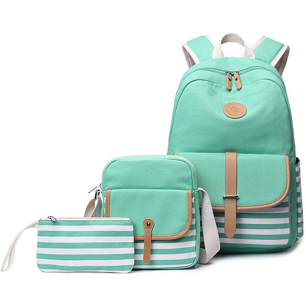 3 in 1 Abshoo Turquoise School Backpack Set