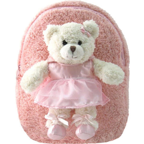 Push Pink Ballet Bear Book Bag