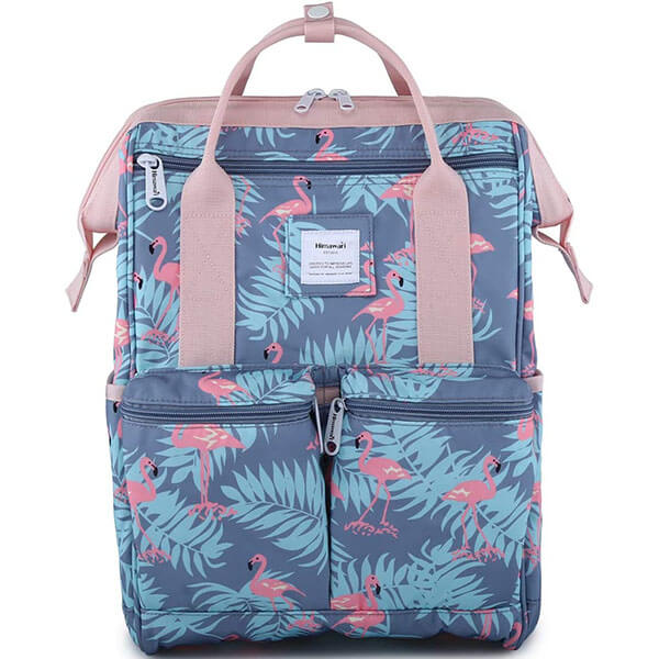 Himawari Scratch Resistant Flamingo Backpack