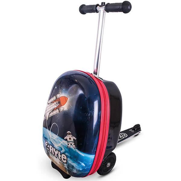 Black Rolling Backpack with Scooter