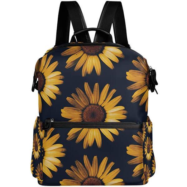Retro Sunflower Vintage Travel Backpack