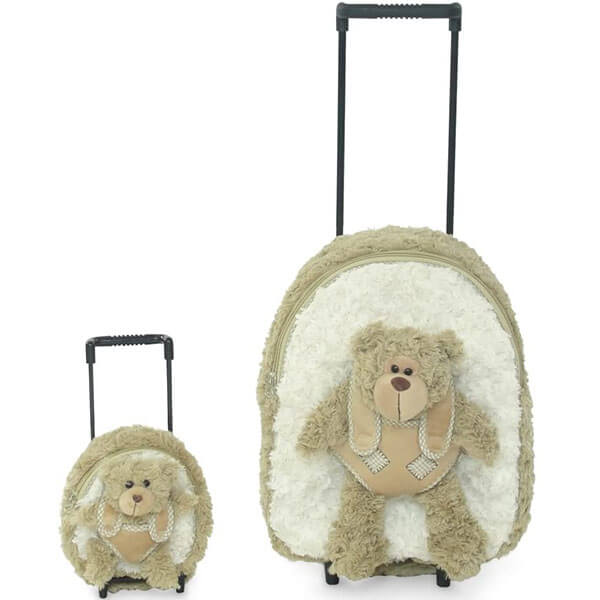 Trolley Teddy Bear Backpack Set