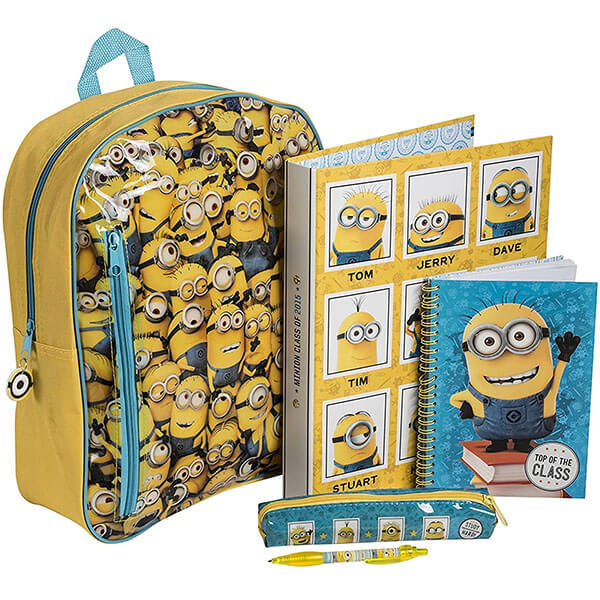 Yellow Despicable Me Minion Backpack Set