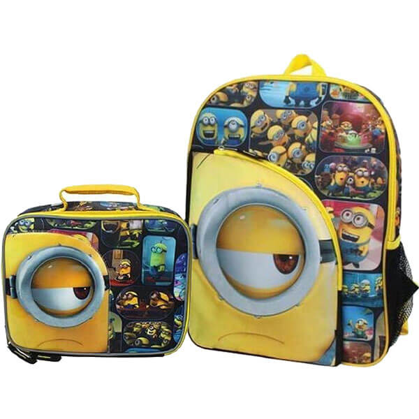 Multi-Color Minion Backpack Set