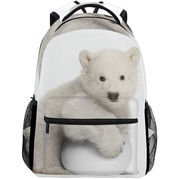 Polar Bear Playing Snowball Backpack