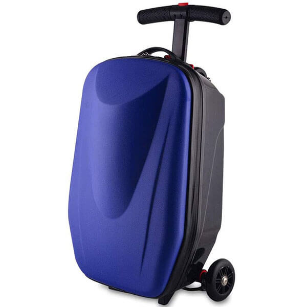 Water-resistant Violet Scooter Luggage Backpack