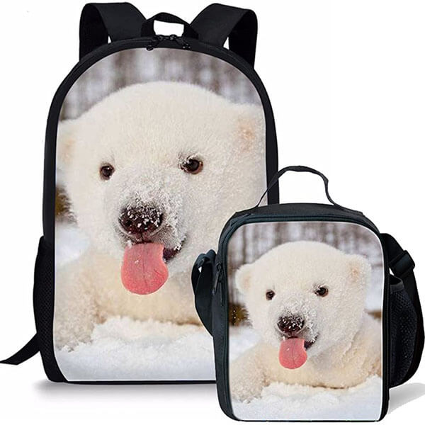 2 in 1 Stylish Teddy Bear Backpack Set