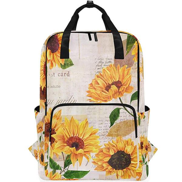 Vintage Watercolor Sunflowers Teens Backpack