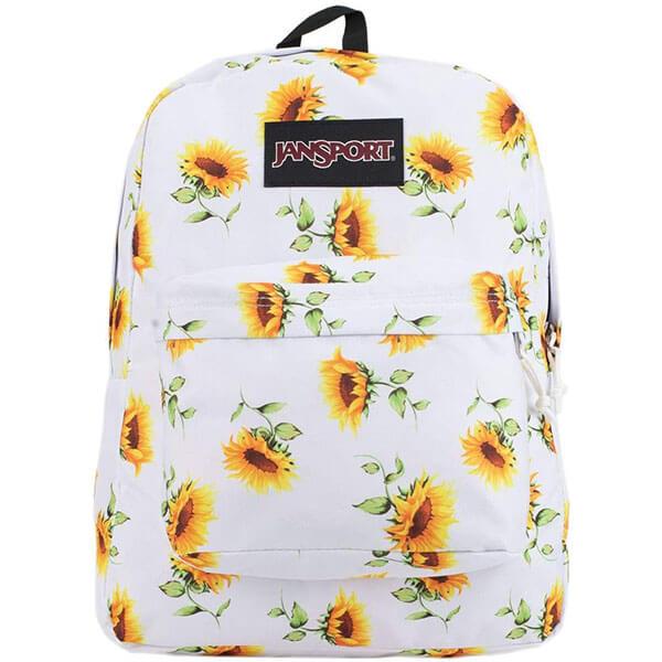 White Base Grade Schoolers Flower Backpack