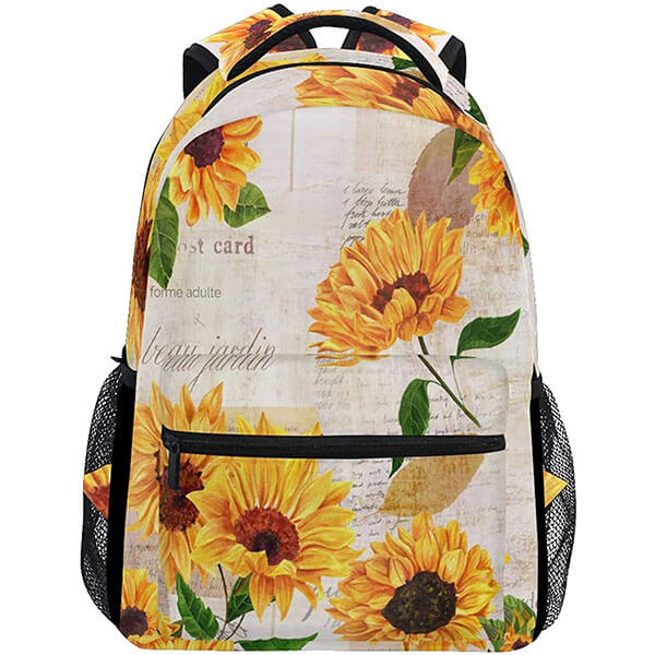 Ergonomic Waterproof Sunflower Backpack