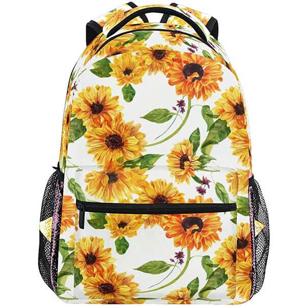Fade-Resistance Elegant Sunflower Backpack