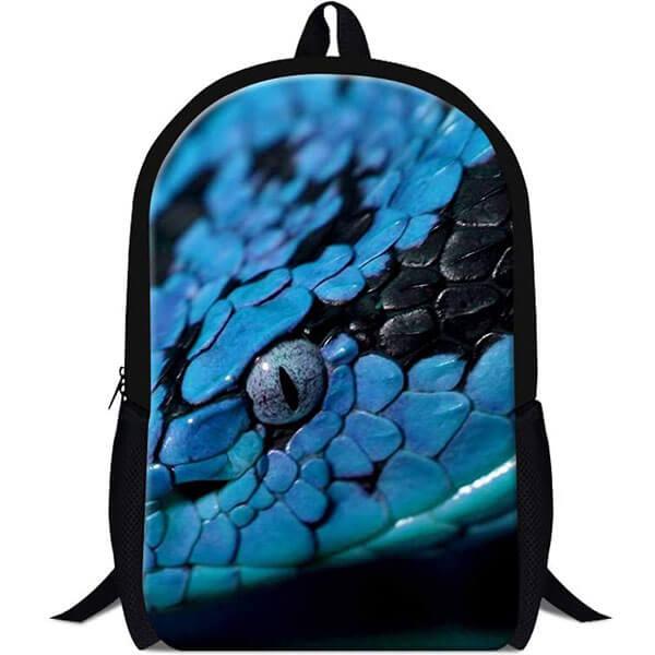 Blue Snake Eyed School Backpack
