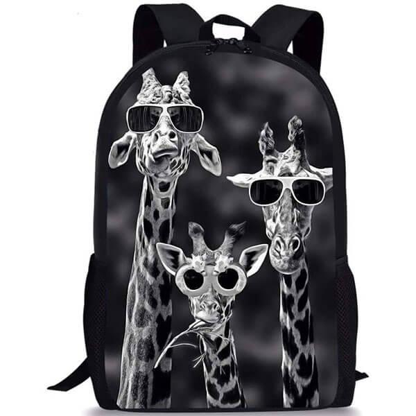 Cool Giraffe with Sunglasses Backpack