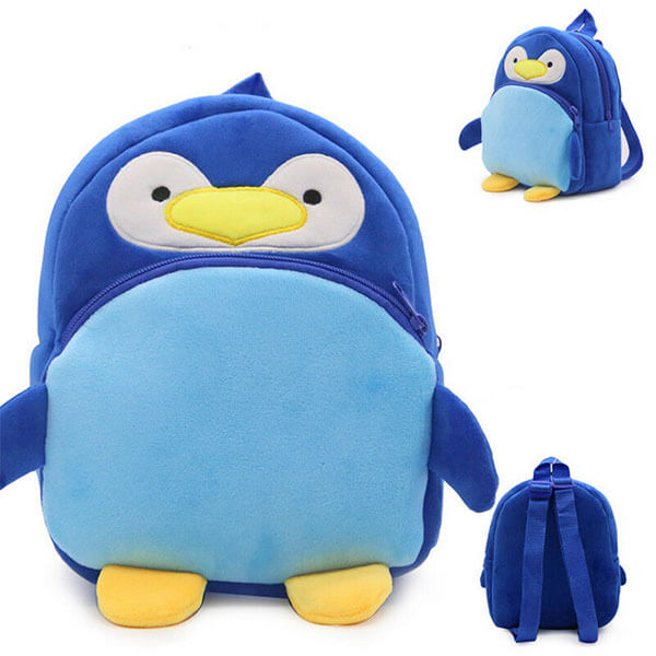Cute Plush Penguin Backpack for Toddlers