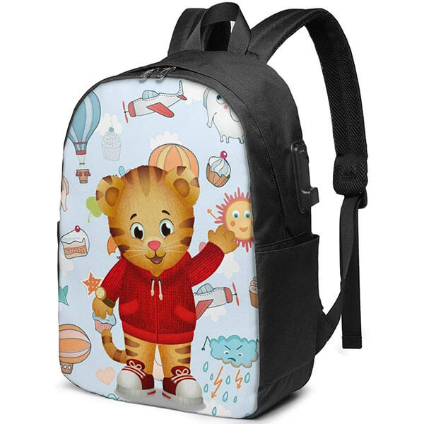 Daniel Tiger Backpack with Sun Airplane Print