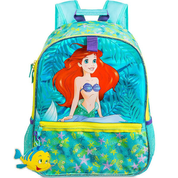 Disney Mermaid with Flounder Keychain Backpack