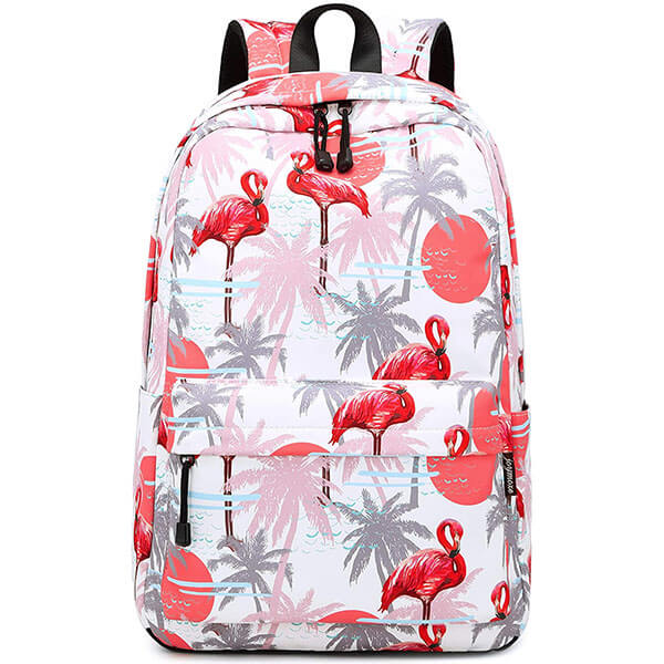 Flamingo Coconut Tree Backpack