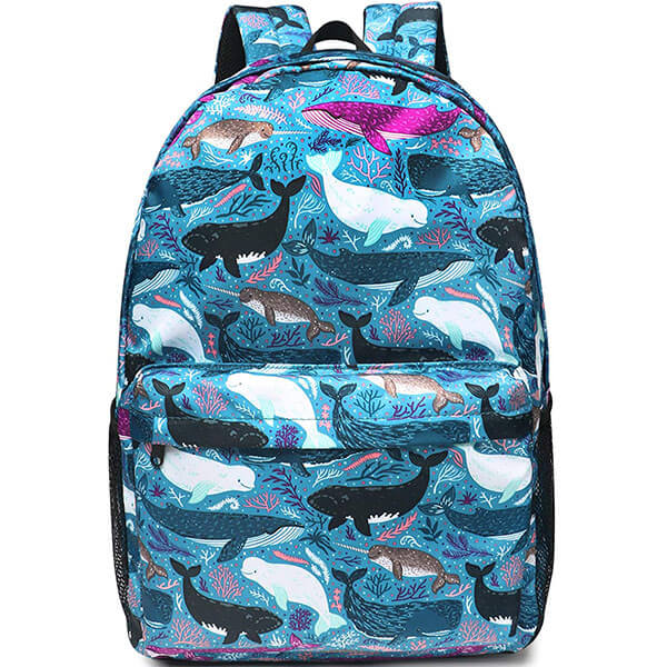 Lightweight Whale Nylon Laptop Backpack
