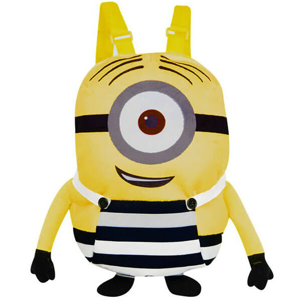 Plush Minion Backpack for Kindergarten Kids