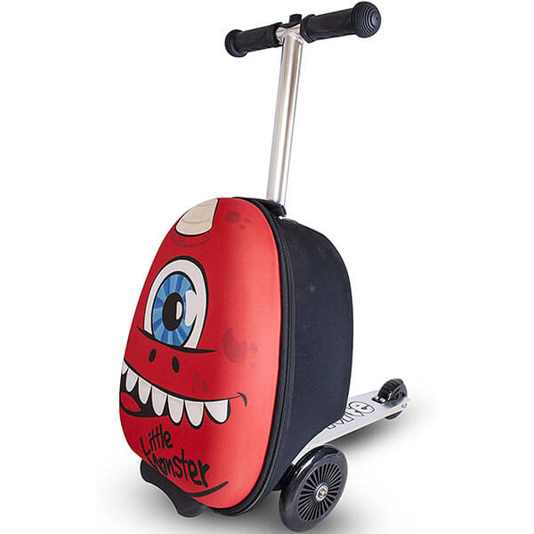 Red Cyclops Scooter Suitcase Backpack