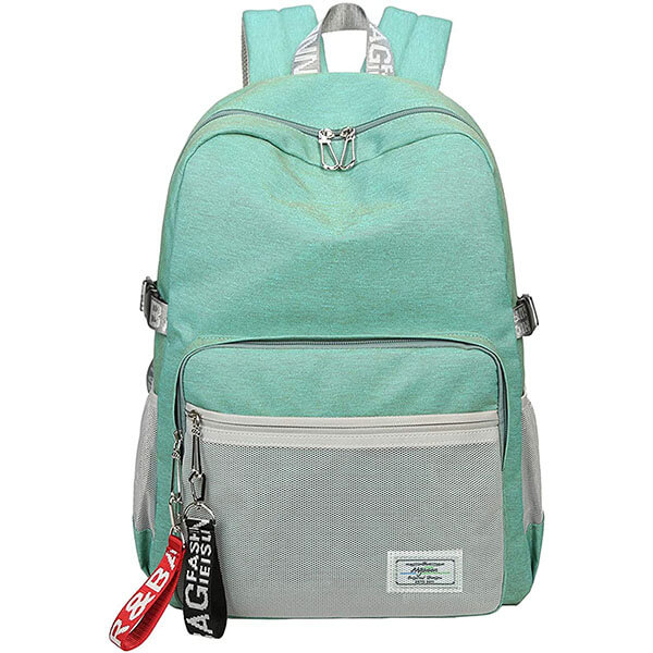Turquoise Water repellent Oxford Backpack