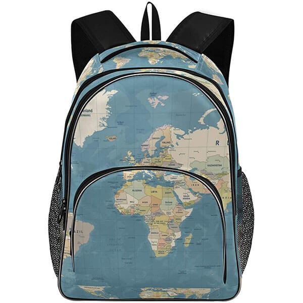 Twill Weave Map Backpack for Outdoors