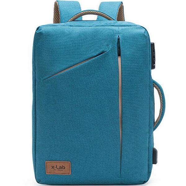 Slim Briefcase Lock Security USB Charging Backpack