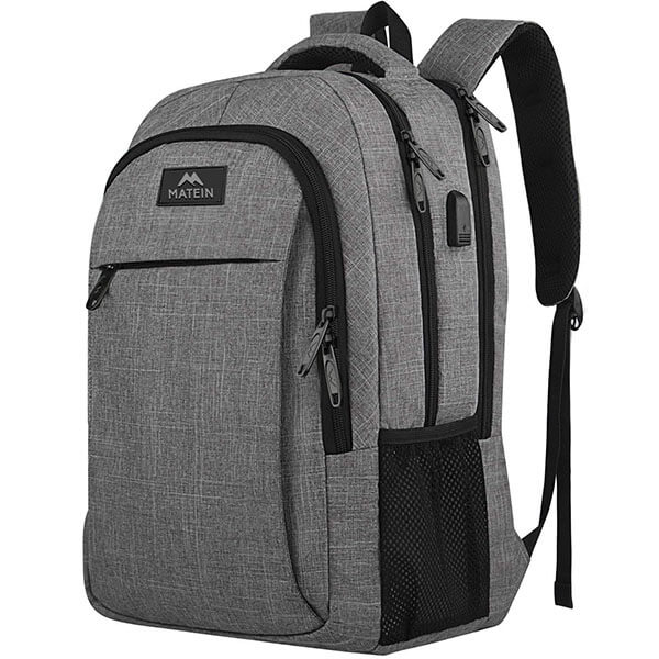 Three Chamber Business Backpack with USB Port