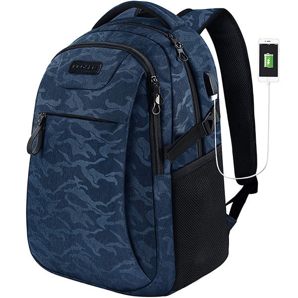 Camouflage Air-flow Padded Cozy USB Backpack