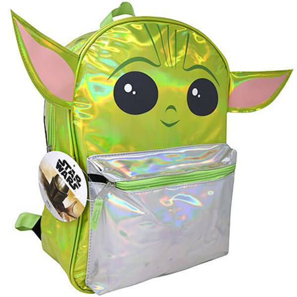 3D Baby Yoda Backpack with Silver Foil