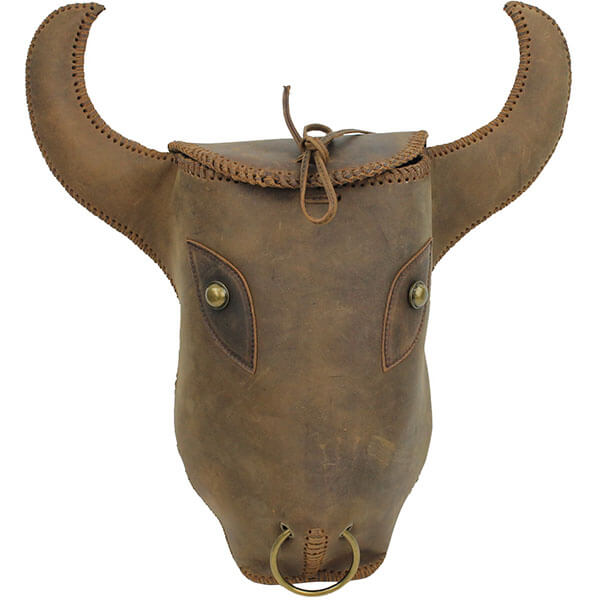 3D Cow Hide Bull Head Backpack
