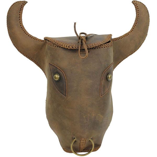 3D Cow Hide Bull Head Backpack