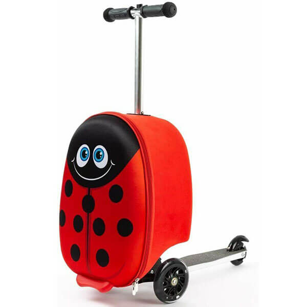 Lady Bug Scooter Luggage Kid Backpack