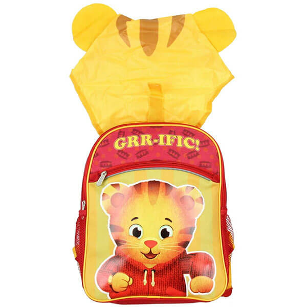 Daniel Tiger Backpack with Wearable Rain Hoddie
