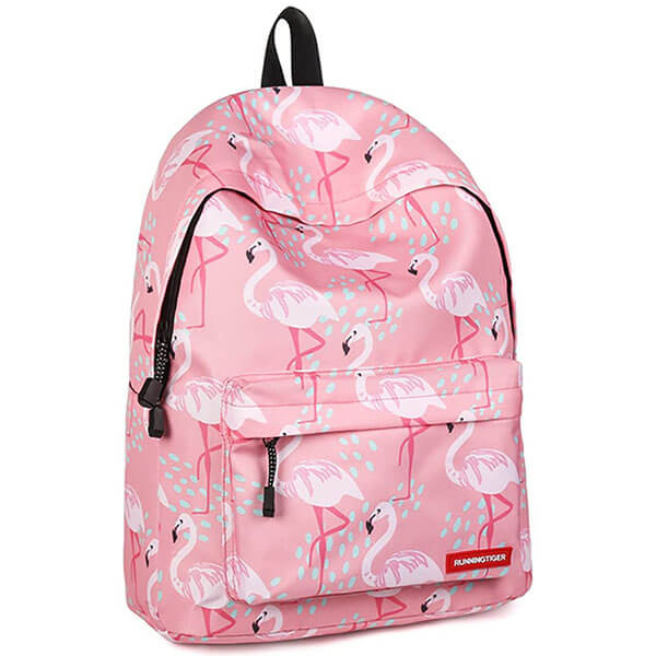 Flamingo with Splitting Water Droplets Backpack