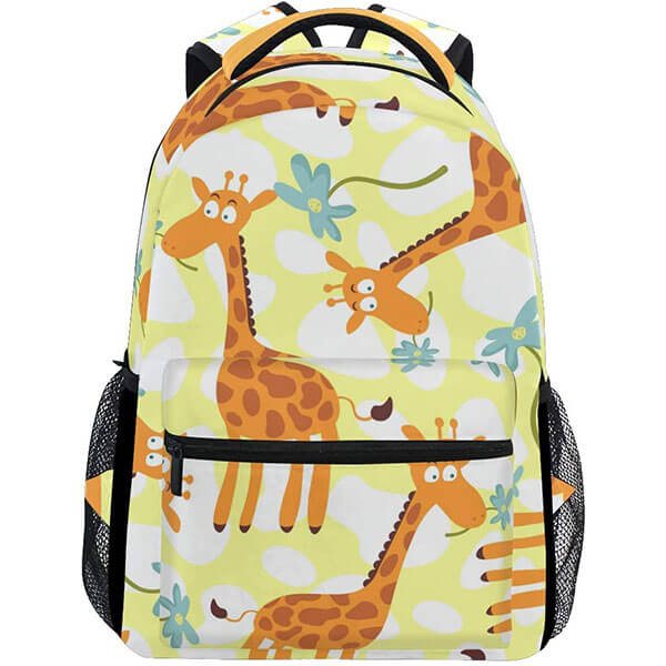 Giraffe with Floral Print Backpack