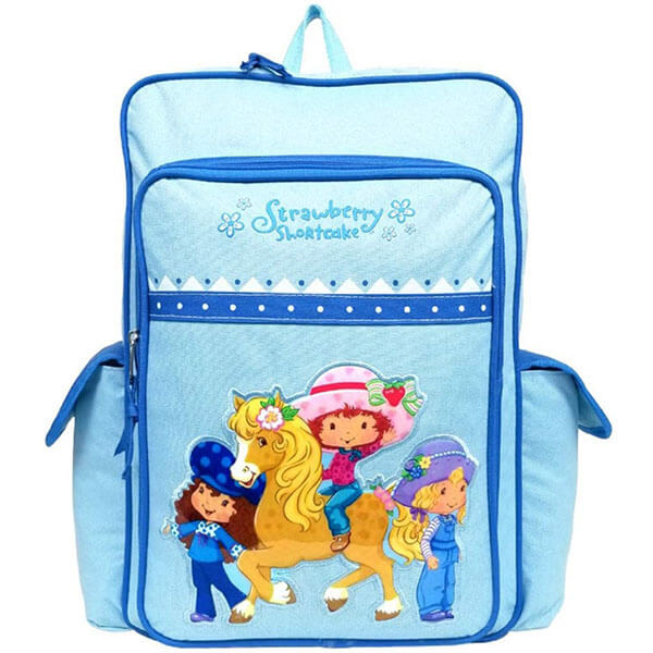 Light Blue Strawberry Shortcake Backpack