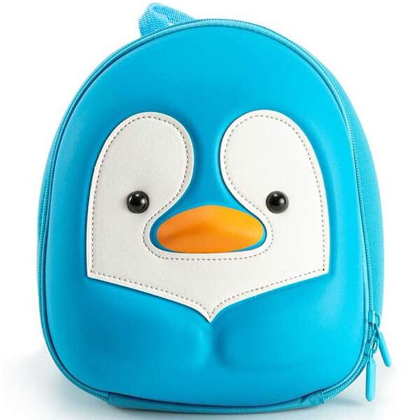 Sky Blue Penguin Backpack for Preschool
