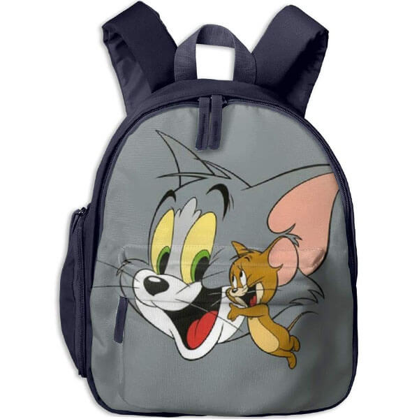 Tom and Jerry Polyester Backpack for Kindergarten