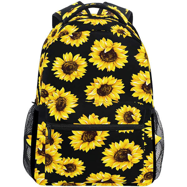 Water Resistant Canvas Floral Laptop Backpack