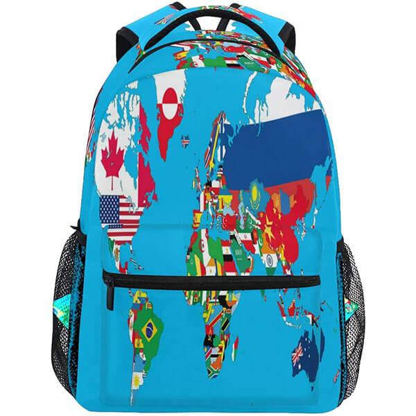 Waterproof World Flag Backpack