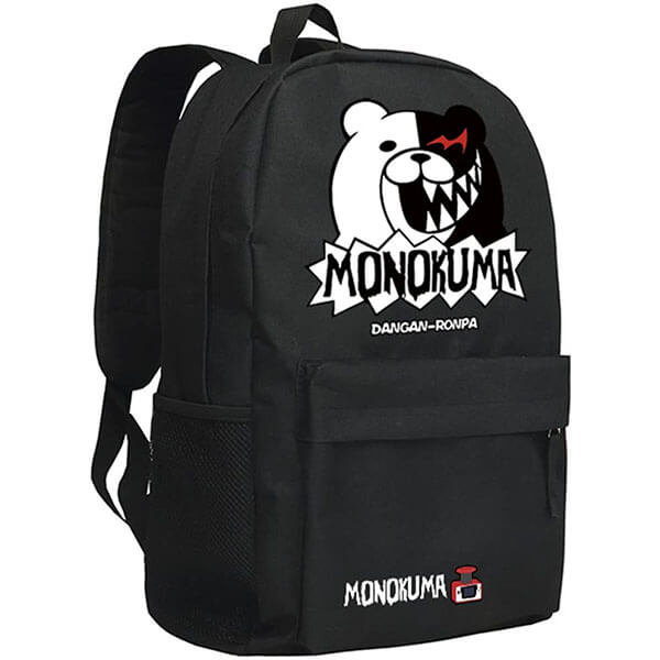 Classical Monokuma Backpack with Spike Teeth Print