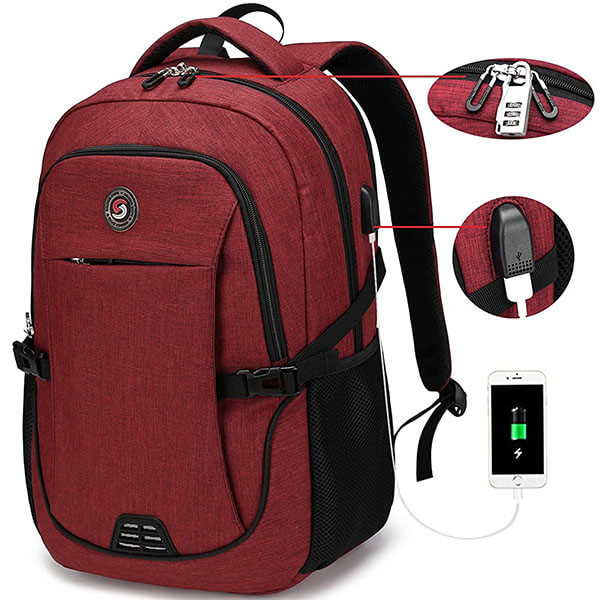 College Students Lightweight Nylon Backpack