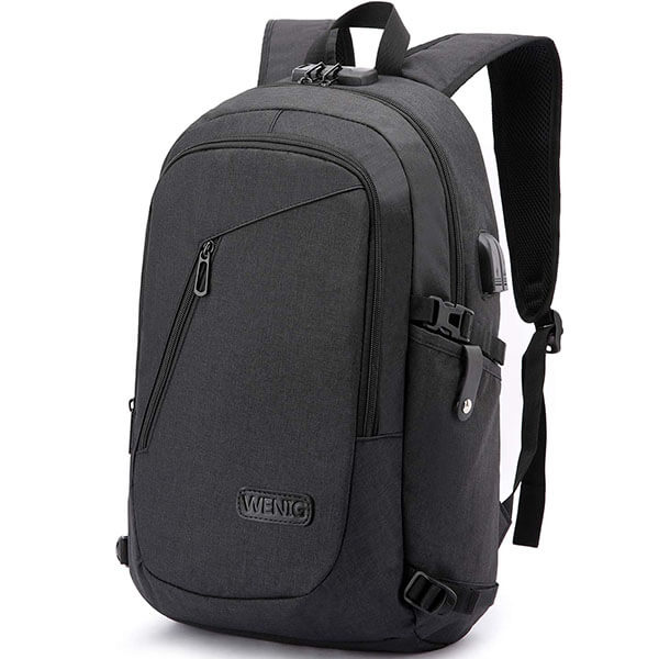 Oxford Headset Port Backpack with USB Charger
