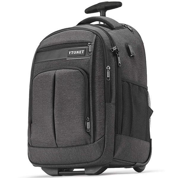 Waterproof Wheeled USB Charging Rolling Backpack
