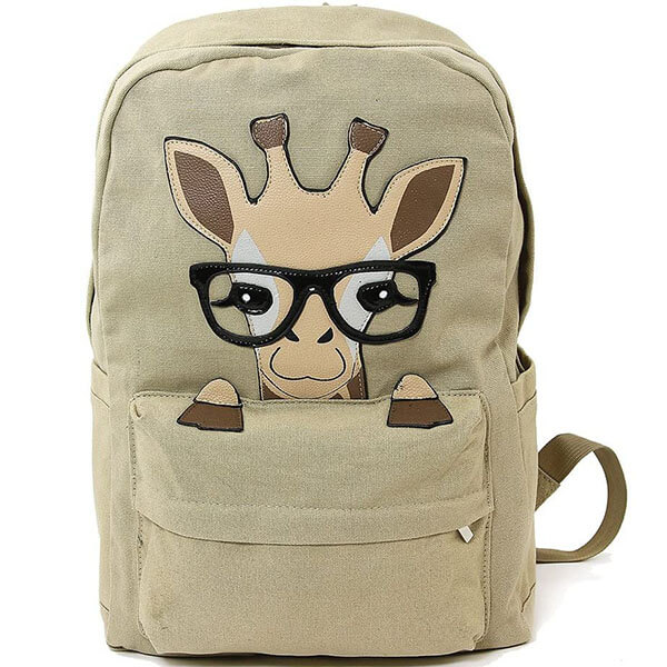 Baby Giraffe with Spectacles Backpack