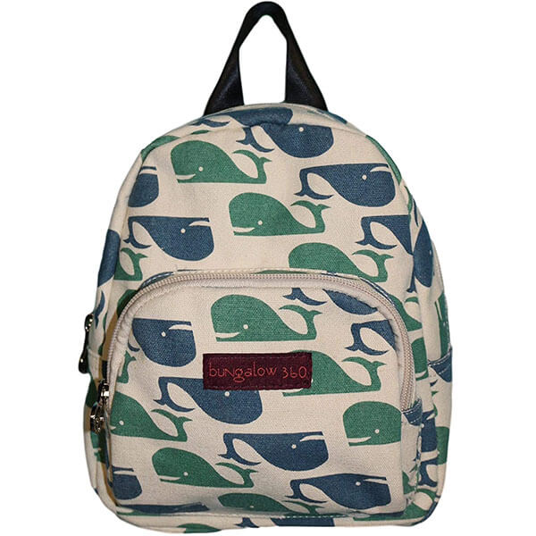Classic Whale Canvas Laptop Backpack