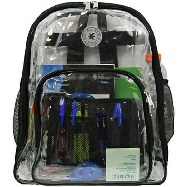 Heavy Duty Clear Vinyl Backpack